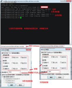 利用SSH工具命令批量修改文件权限